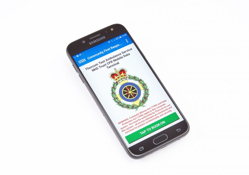 Thorcom Mobilize CFR running on a smartphone